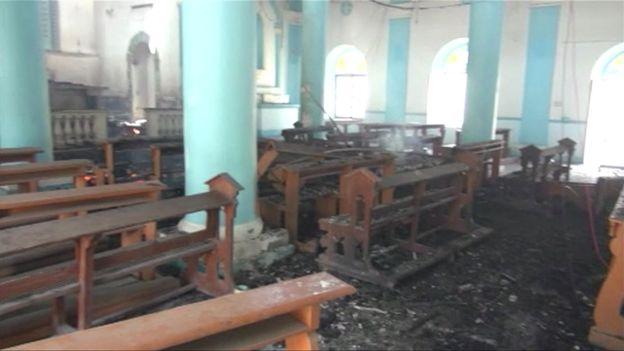 Militan Al Qaeda Bakar Gereja Katolik St Joseph di Yaman