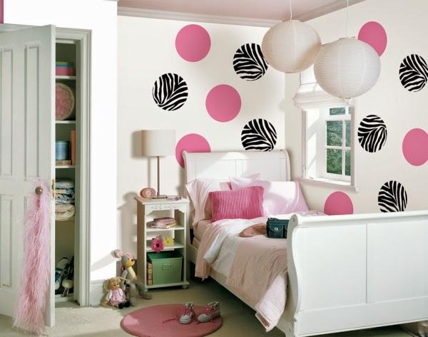 Dormitorios en rosa y negro para adolescentes colores en - Como pinto mi habitacion ...