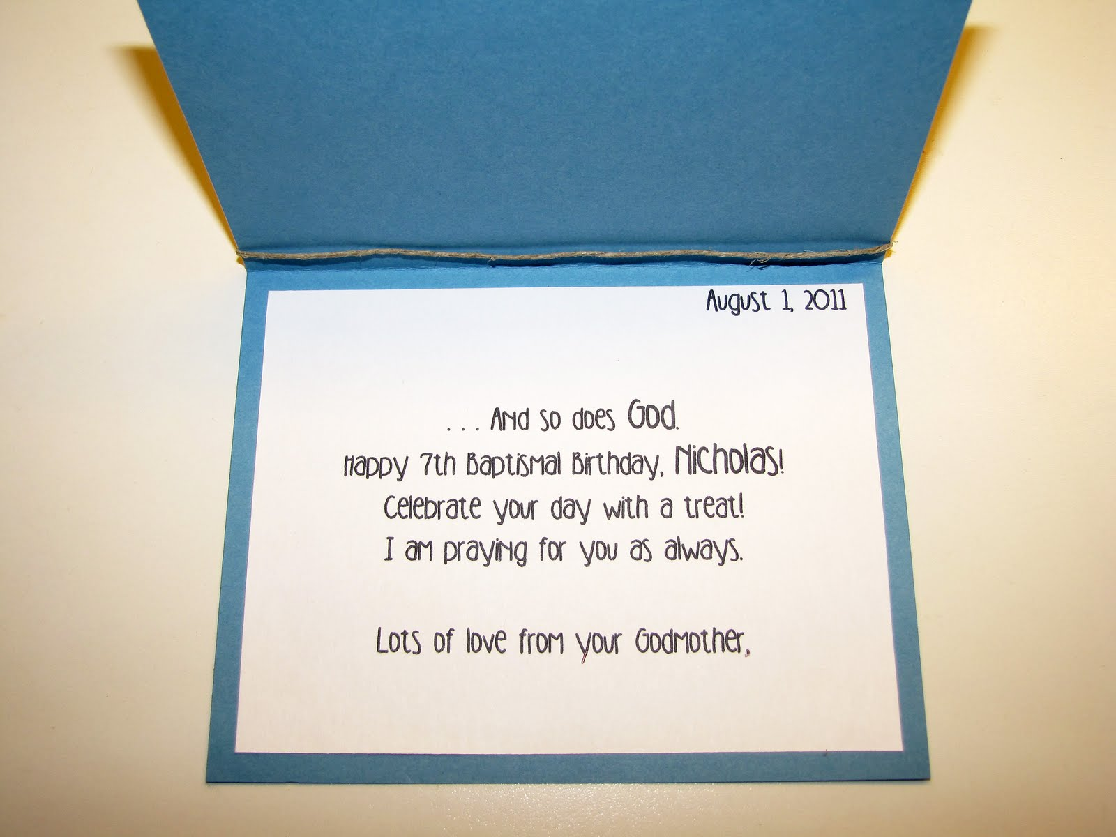Jens Happy Place I Shore Love You Baptismal Birthday Card