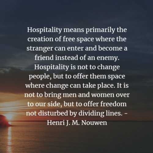 Inspirational hospitality quotes that deepens connection