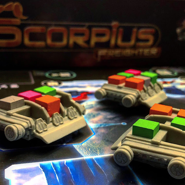 Scorpius Freighter Board Game Review and Image by Benjamin Kocher