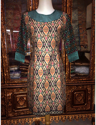 model baju pesta kain songket