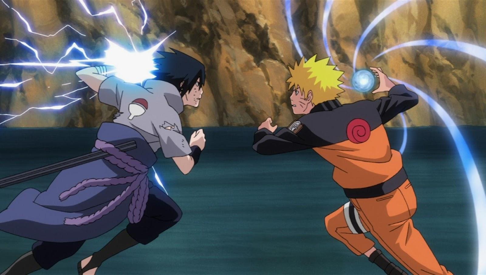 Sasuke Vs Naruto Uzumaki Dunia Kartun