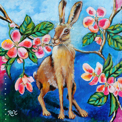 "First Painting of the New Year! ""Sweet Wild Hare"""
