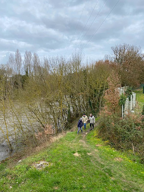 Walking along the banks of the Creuse, Descartes.  Indre et Loire, France. Photographed by Susan Walter. Tour the Loire Valley with a classic car and a private guide.