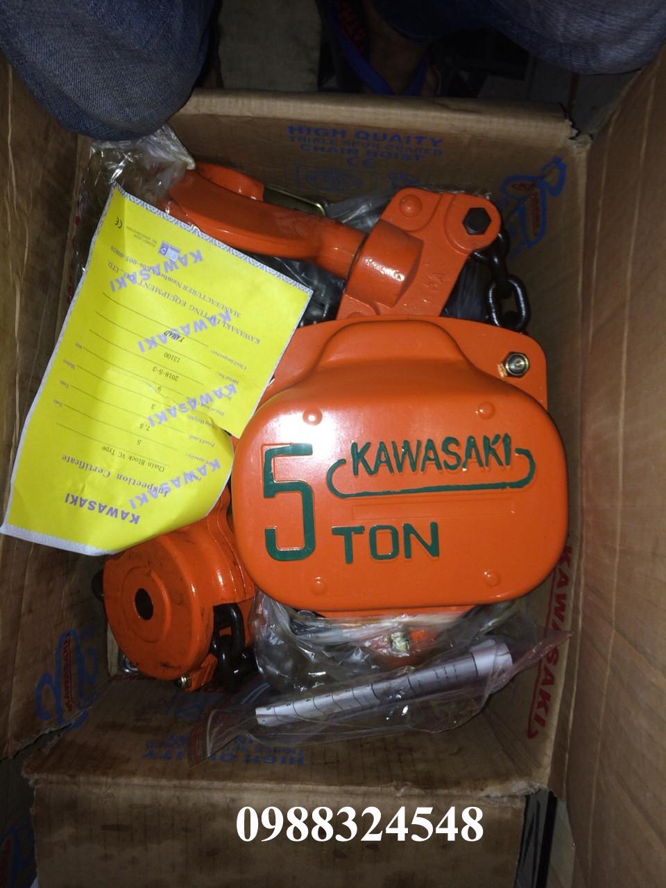 Pa lăng kéo tay Kawasaki 5 tấn