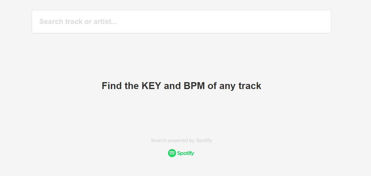 Brilliant Site for Finding BPM and Key on Spotify Songs