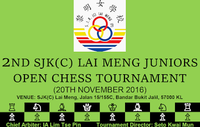 2nd SJK(C) Lai Meng Juniors Open (20/11): Namelist