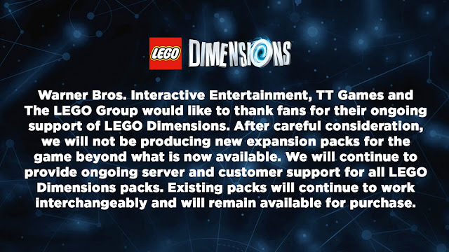 No habrá más expansiones de LEGO Dimensions