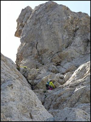 Escalando la Homedes al Gat, Pedraforca
