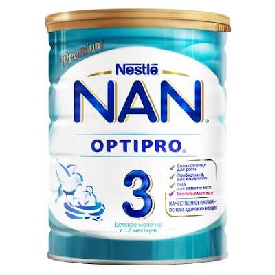 Sữa NAN 3 hộp 800gr từ 12 tháng tuổi - Sữa NAN Nga xách tay chính hãng