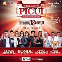 Adiados os shows que fariam parte das festividades de emancipação política de Picuí