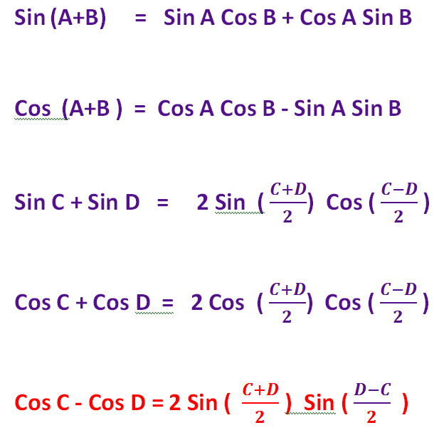 Easy Tricks  to  Memorise     A  B and  C D   Formulae in Trigonometry