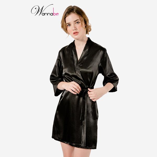 Đầm ngủ nữ Wannabe màu đen KI010