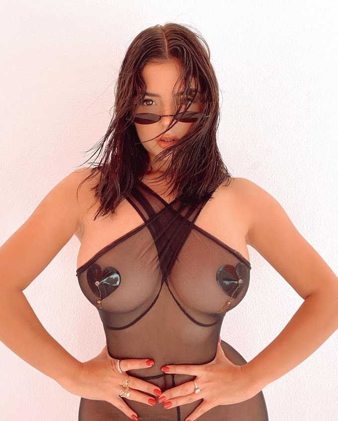 Demi Rose Mawby Sexy Pics in Transparent Dress