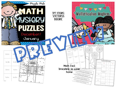 multiplicatoin mystery puzzles pack