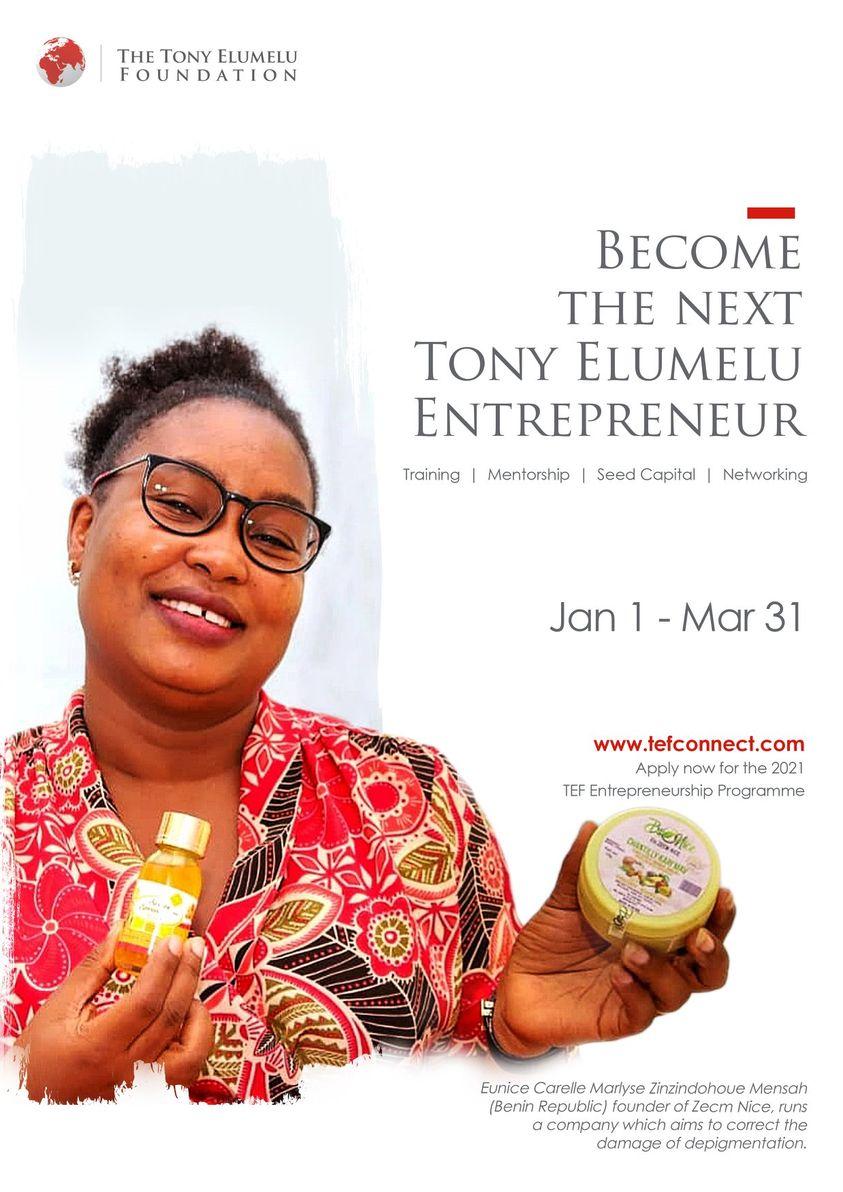 Calling All African Entrepreneurs - Tony Elumelu Foundation Entrepreneurship Progra 2021mme