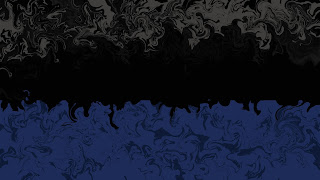 Border (Blue, Grey, and Black) -  Abstract Wallpaper Art With Black or Dark Color - Collection