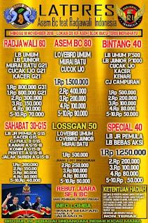 Event Bergengsi!! Latpres Asem BC ft Radjawali Indonesia (DPC Indramayu), Minggu, 18/11/2018