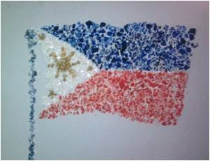 Egg shell mosaic - Philippine flag