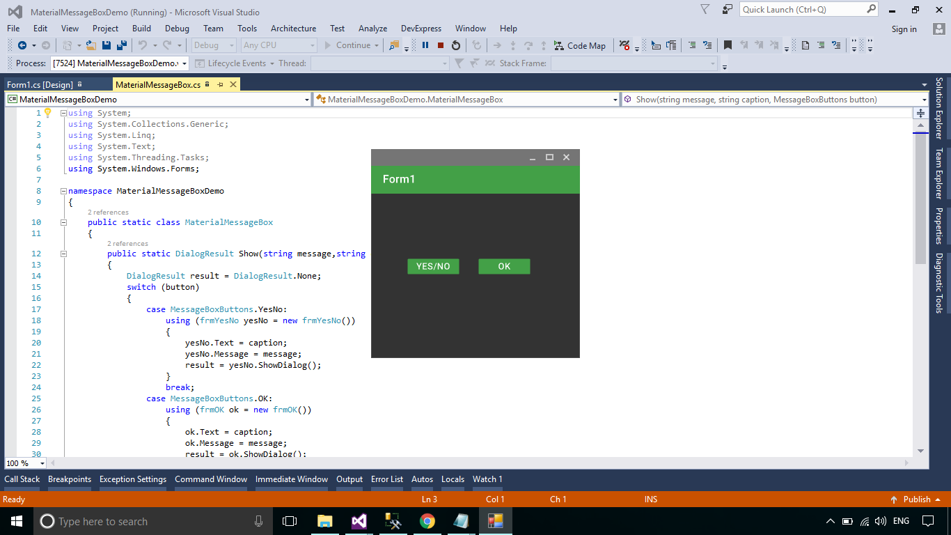 FoxLearn | Windows Forms: Create Material MessageBox in C#
