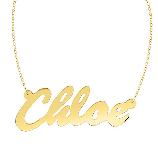 24k gold plated nameplate necklace