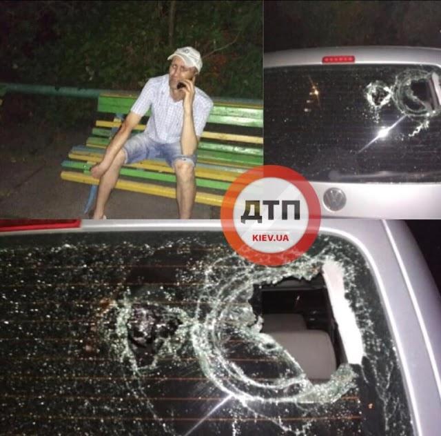 Шалені пристрасті: У столиці чоловік розбив машину коханцю дружини