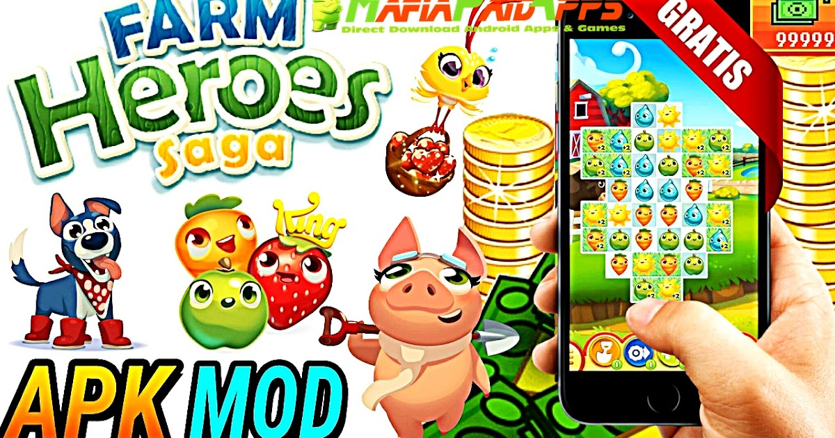Farm Heroes Saga Apk + Mod (Lives/Hero/Moves) Android