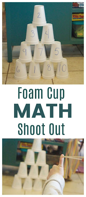 A Foam Cup Shoot Out is an Active Way to Practice Math