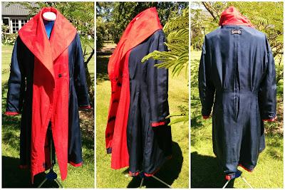 Creates Sew Slow: Vogue 1321 Donna Karan Red Shibori Coat