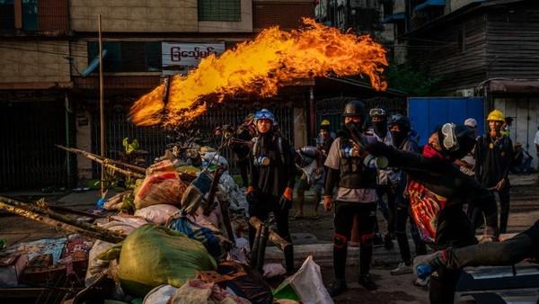 Bertambah, 50 Demonstran Tewas Ditembak Pasukan Keamanan Myanmar