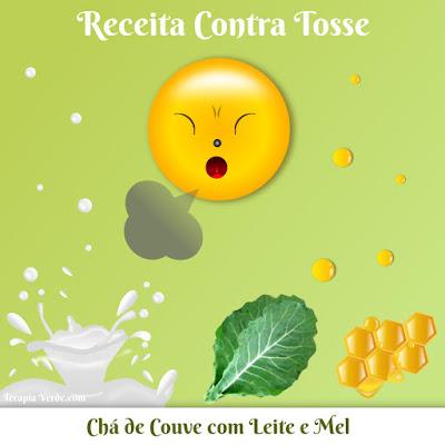 Receita Contra Tosse: Chá de Couve com Leite e Mel