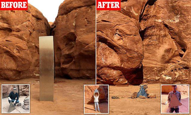 Tugu 'Alien' Metal Hilang Misterius, Teka-tekinya Mulai Terungkap