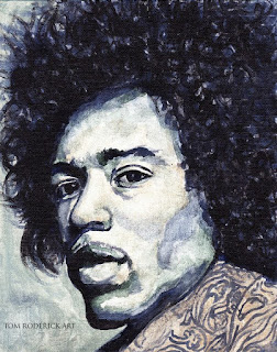 Portrait of Jimi by Boulder portrait artist Tom Roderick