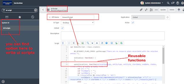 UI script servicenow, client side scripting in servicenow, servicenow client side scripting