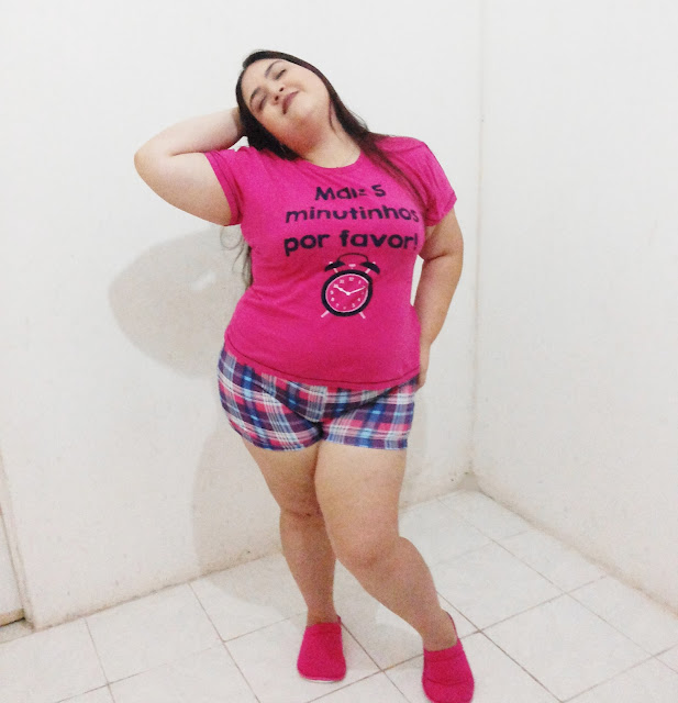 Pijama Lindo Plus Size Short Doll Villa Enzo
