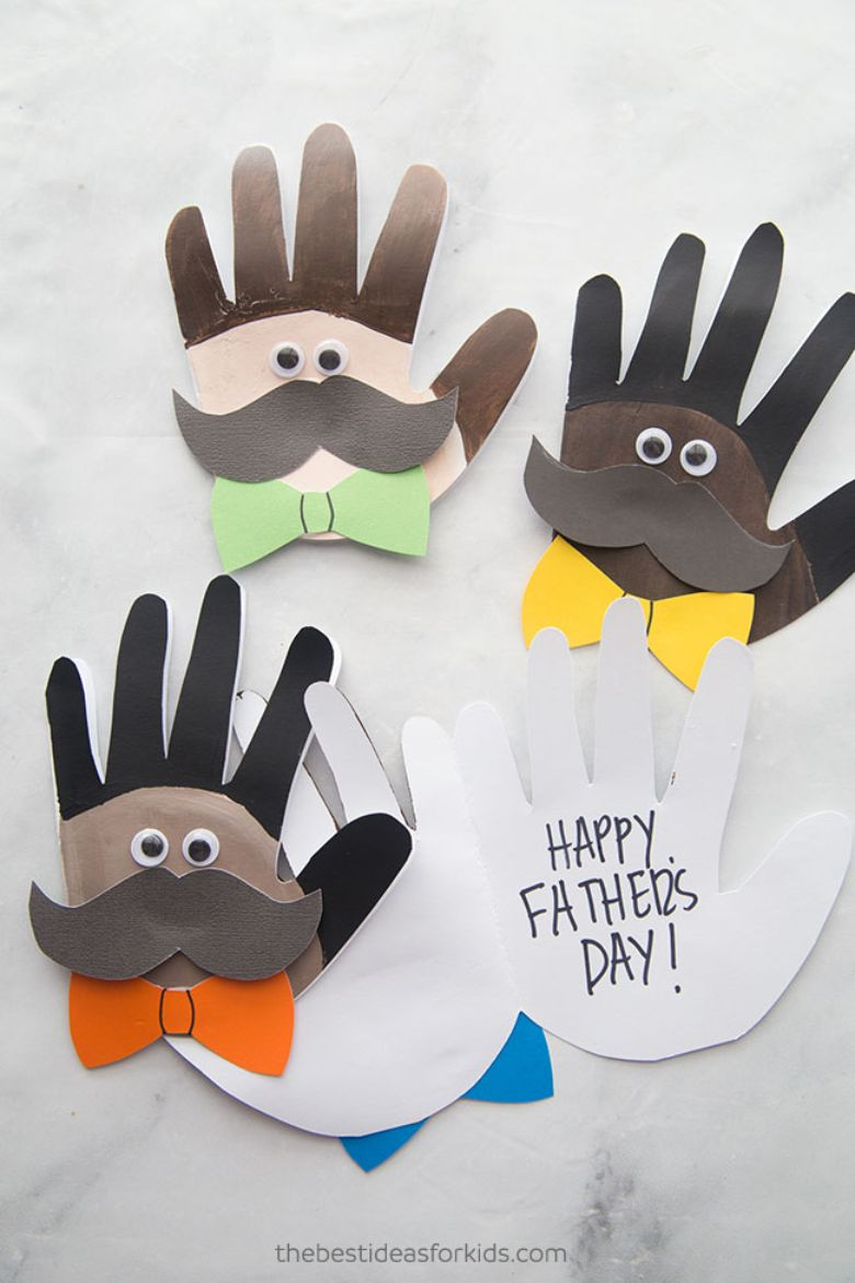 Handprint Cards for Father's Day
