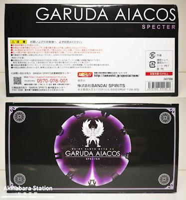 Review del Myth Cloth EX Garuda Aiacos de Saint Seiya - Tamashii Nations