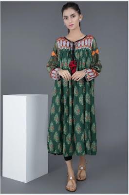 warda winter green color single shirt silk karandi printed