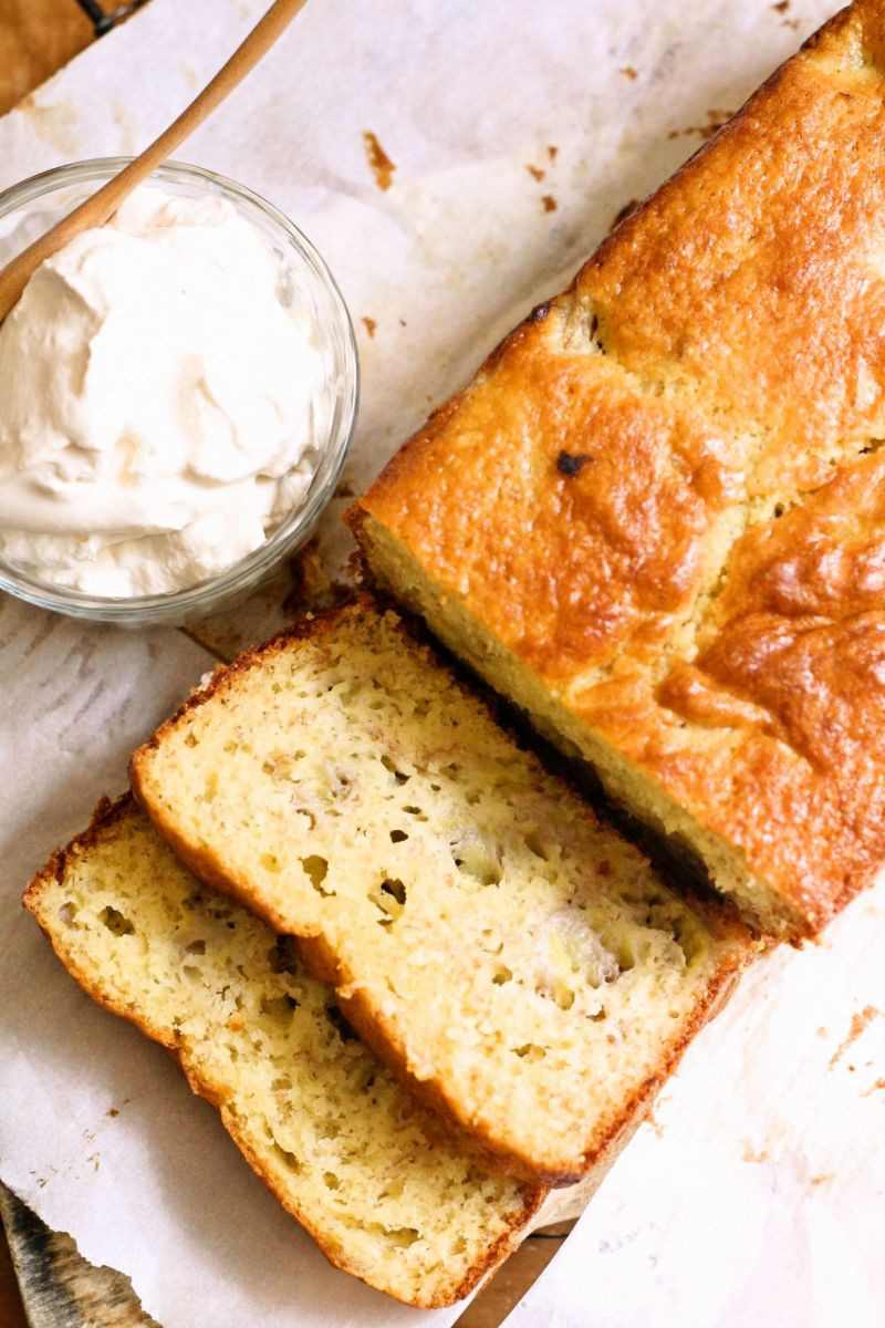 Perfectly Imperfect Simple Banana Cake Bread