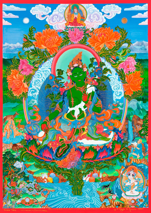 Green Tara thangka Green_Tara_thangka