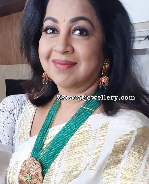 Radhika Saratkumar Fancy Beads Jewellery