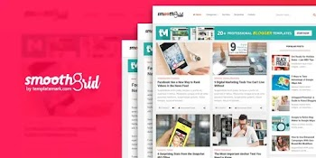 [Free Download] Smooth Grid Blogger Template Premium New