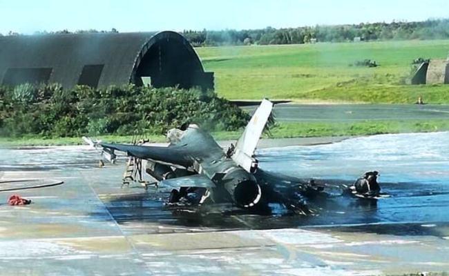 Kecelakaan F-16 Belgia Hancur Total