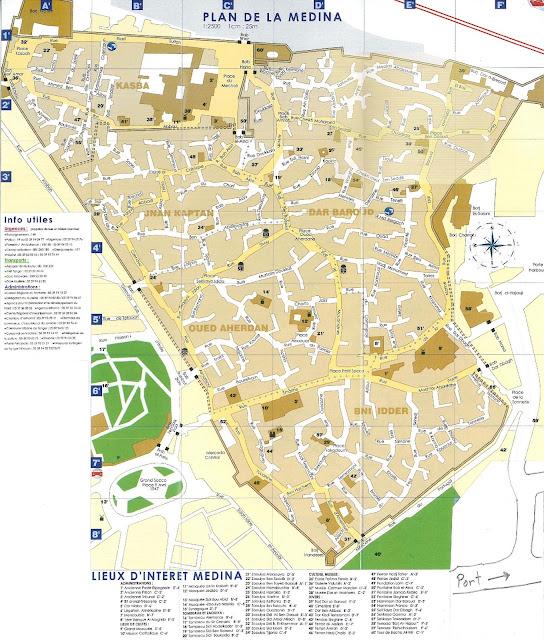 Plan de la Médina de Tanger