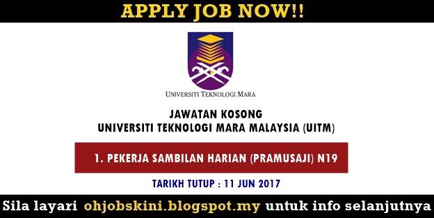 Jawatan Kosong Universiti Teknologi MARA (UiTM) Pulau Pinang