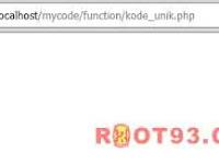Membuat Kode Unik Menggunakan uniqid PHP
