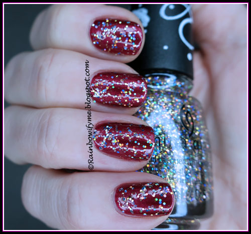 China Glaze: #ThisIsMyStreet over red