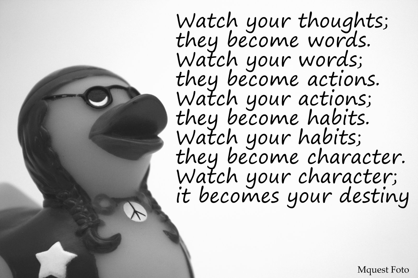 watch your actions