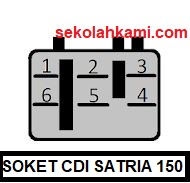 soket cdi suzuki satria 150f